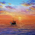 Boats By Ivailo Nikolov Painting by Boyan Dimitrov