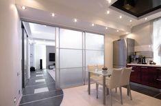 Astonishing Glass Kitchen Divider Design Ideas to Inspire You - My Kitchen Interior Door Dividers, Room Divider Doors, Sliding Room Dividers, Sliding Wardrobe Doors, Wardrobe Door Designs, Divider Design, Folding Doors, Glass Kitchen, Sliding Glass Door