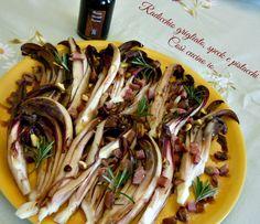Radicchio tardivo grigliato speck e pistacchi
