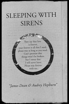 sleeping with sirens. love is forever. This was actually the background to my phone for a while haha