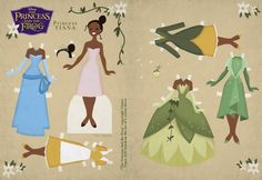 Cory Jensen paper dolls. He's AWESOME!...PRINCESS COLORING PAGES