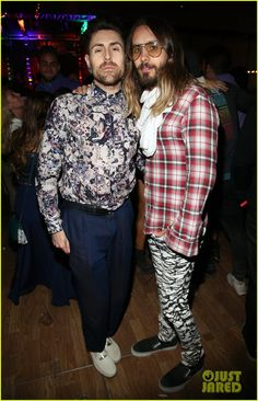 Jared Leto & Emile Hirsch Stand Out at Coachella's Neon Carnival