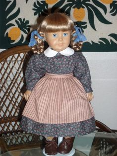 1850s Prairie Pioneer Work School Dress by alohagirldollclothes, $29.50
