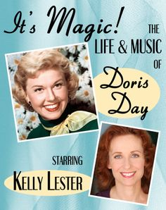 """Kelly Lester will star in """"It's Magic! - the Life and Music of Doris Day"""" to premiere aboard the Crystal Cruises Panama Discovery Cruise in May more › Discovery Cruise, Crystal Cruises, She Movie, Show And Tell, Feeling Happy, Dory, The Life, Magic, Star"""