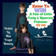 Little Twig and Sparrow Pajamas Giveaway ⋆ The Stuff of Success Exp 9/8