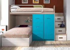 All Details You Need to Know About Home Decoration - Modern Loft Beds For Small Rooms, Bunk Bed Rooms, Cool Bunk Beds, Kids Bunk Beds, Bunk Bed Designs, Small Bedroom Designs, Room Design Bedroom, Small Room Bedroom, Bedroom Ideas