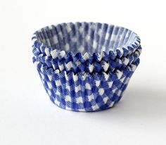 Blue Gingham Cupcake Liners from Sweet Estelle's Baking Supply