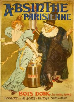 Absinthe poster by P. Gélis-Didot and Louis Malteste