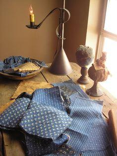 Fabulous old fabrics and pinkeeps.....Taylors*Farmhouse*Attic
