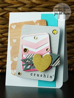 Time For A Card Tuesday Reverse Confetti valentine card layers inspiration