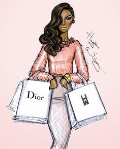 Hayden Williams Fashion Illustrations: 'Shopping Galore' by Hayden Williams