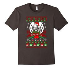 Men's Ugly Xmas Tee Christmas for Horse T-shirt 2XL Asphalt