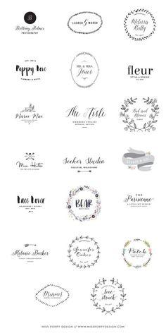 I like Marie Mae, Lillie Co, Patch . Miss Poppy Design / New Pre Designed Logo Collection / Photographer / Florist / Designer / Graphic Design / Wedding Planner Inspiration Typographie, Inspiration Logo Design, Lettering, Typography Design, Website Design, Web Design, Design Shop, Photoshop, Clothes Draw