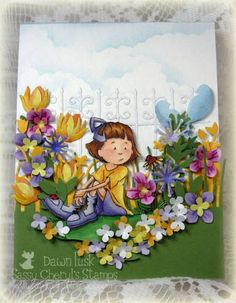 CC416 Lotsa Flowers! by DawnL - Cards and Paper Crafts at Splitcoaststampers
