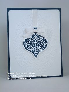 Did You Stamp Today?: Elegant (and Easy!) Ornament