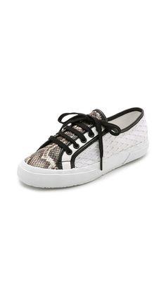 Superga Rodarte per Superga Net Snake Sneakers, $239