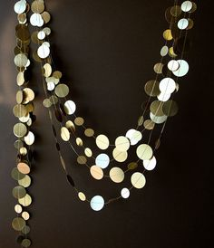 Gold wedding garland Gold garland Shimmer von TransparentEsDecor, $9.00
