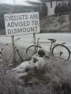 Cyclist dismounting