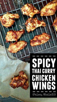 Spicy Thai Curry Chicken Wings | DoYouEvenPaleo.net