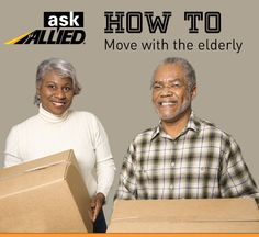 Tips for helping elderly parents transition through a move. #AskAllied #movingtips #movingadvice