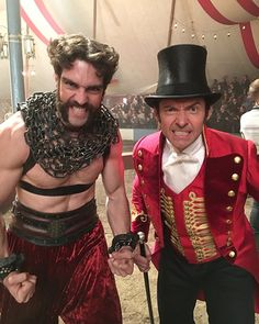 Hugh Jackman and Timothy Hughes in The Greatest Showman (2017)