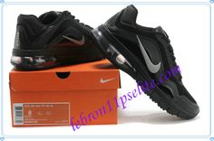 Summer 2013 Running Shoes Nike Air Max TR 180 Leather Mens Black Silver 553642 001