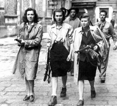 Men and women of the French Resistance, WWII