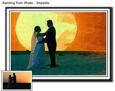 Wedding photo to portrait painting. Anniversary gift ideas