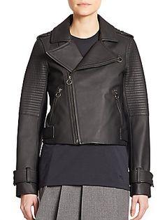 Marc by Marc Jacobs Matte Leather Biker Jacket