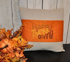 Thanksgiving Pillow Wrap for 18 inch Pillow - pinned by pin4etsy.com