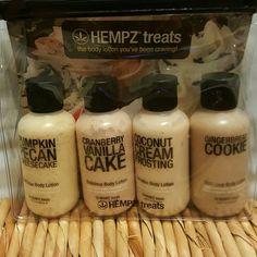 HEMPZ treats gift pack 4 delicious body lotion hempz Other