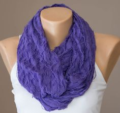 Purple Infinity ScarfSummer Scarf Spring by STEAMSTYLEeu on Etsy