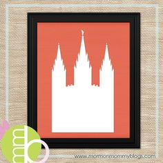 Free Printable: SLC Temple Silhouette @ Jessica Lee. We could use this for marker board and add text. We can change the color to gray so black or color would show up.