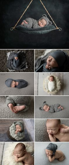 11 day old Owen and his grey themed studio newborn photo shoot. Sunny S-H Photography Winnipeg