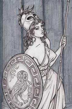 Weekly Warrior Women 16 by dpdagger Fantasy Kunst, Fantasy Art, Greek Warrior, Warrior Women, Greek Mythology Tattoos, Athena Goddess, Minerva Goddess, Greek Gods And Goddesses, Fantasy Inspiration