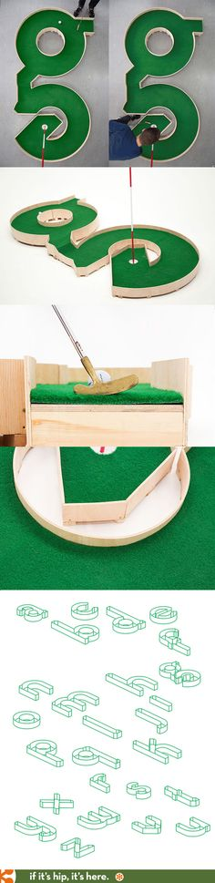 Typographic Miniature Golf. 26 Alphabet Greens.