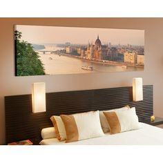 Foto canvas Budapest Skyline Panorama - Love For Deco