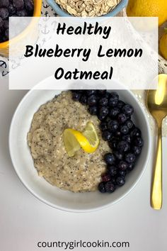 When you eat blueberry lemon poppyseed oatmeal, you are giving your body nutritional benefits! Not only will you be receiving antioxidants and vitamin C, your body will appreciate the healthy carbohydrates from oatmeal. All in all, this is a filling, low fat meal that your family will devour with pleasure! #oatmeal #healthy #blueberry #lemonpoppyseed