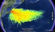 Image of the pollution caused by Japan.