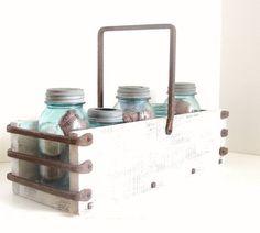 Image result for metal jar caddy