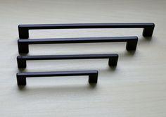 Modern Black Cabinet Pull. Black Cabinet by ElegantCabinets