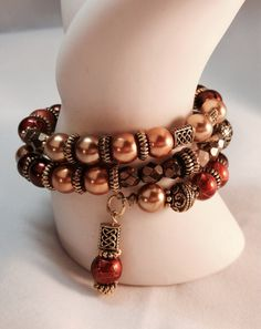 Earthy and Rich Wrap Bracelet TDC 031 by TheaDesignConcepts