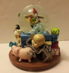 "Toy Story Snow Globe Music Box, Plays ""You've Got a Friend in Me""  #toystory #pixar #snowglbe #disney #disneysnowglobe #disneypixar"