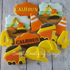 Calhoun's Construction Set, cookies by Sweet Treats by Sonya Construction Party Cakes, Construction Cookies, Construction For Kids, Construction Birthday Parties, Construction Theme, Boy Birthday Parties, 2nd Birthday, Birthday Ideas, Iced Cookies