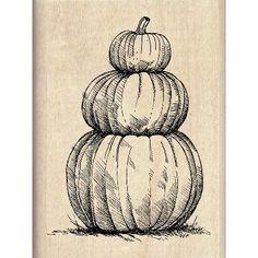 "Inkadinkado Halloween Mounted Rubber Stamp 2.25""X3""-Pumpkin Topiary…"