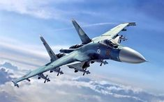 Sukhoi Flanker D (Vincenzo Auletta) Luftwaffe, Military Jets, Military Aircraft, Air Fighter, Fighter Jets, Air Force Wallpaper, Sukhoi Su 35, Russian Fighter, Russian Air Force