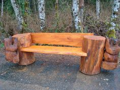 Steve Turnbull:   baby bear bench from cedar and oil 80 inches long and seat 17 in high from canada