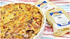 Ewa w kuchni: Tarta z ciecierzycą, łososiem i kurkami