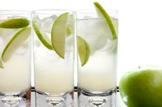 This one always goes over well for me...Kind of like a virgin mojito..    2- cans frozen limeade  2- 2 liter bottles ginger ale  2 or 3 limes, sliced  mint leaves  1 bag ice    Mix all together in punch bowl. This one is quite refreshing and easy.