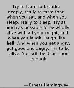 Good Advice | Ernest Hemingway